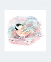 Cremation for Pets - Watercolour Bird Poster